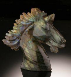 Labradorite Unicorn Carving