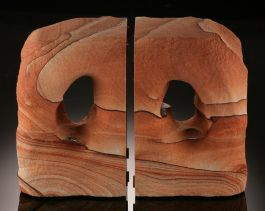 "Sierra Sandstone ""Cave"" Bookends"