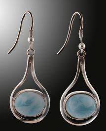 Larimar Dangle Earrings
