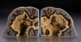 "3.75"" Septarian Geode Bookends"