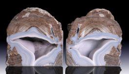 4.5' Dugway Geode Bookends
