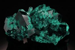 Dioptase from Kazakhstan (with stand)