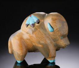 Buffalo Fetish in Zuni Stone