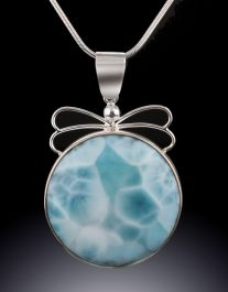 Larimar Pendant (with chain)