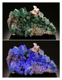 Color Changing Fluorite from the Rogerley Mine