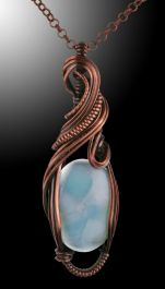 Larimar Wire Wrap (with chain)