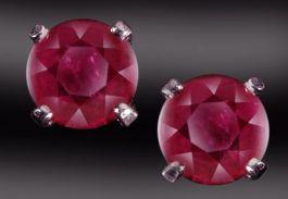 4mm Ruby Stud Earrings