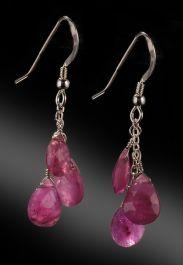 Ruby 3-Drop Earrings