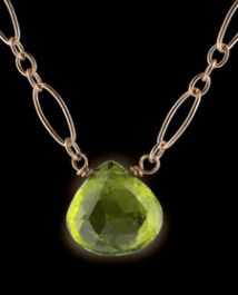 Peridot Floating Stone Necklace