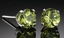 Peridot Stud Earrings 6mm