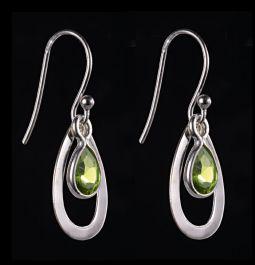 8x6mm Peridot Teardrop Earrings