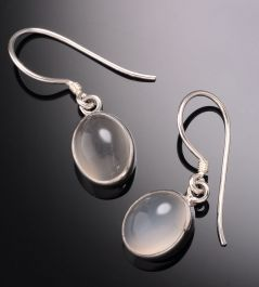 White Moonstone Earrings