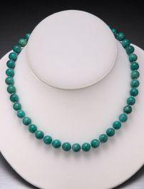 Amazonite Bead Necklace-10mm
