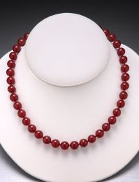 Carnelian Bead Necklace-10mm