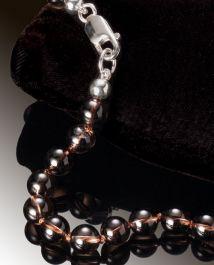 Smokey Quartz Bead Necklace-8mm