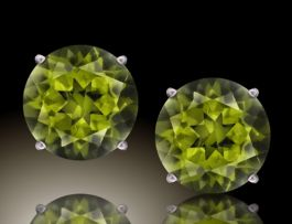 4mm Peridot Stud Earrings