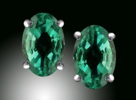 6x4 Emerald Stud Earrings
