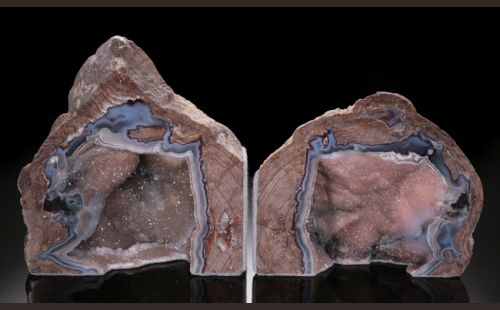 "6"" Dugway Geode Bookends"